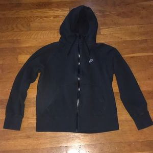 Black nike zip up hoodie